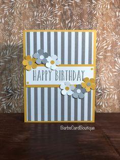 Happy Birthday Cards Handmade, Homemade Birthday Cards, Birthday Cards For Her, Bday Cards, Greeting Cards Handmade, Card Birthday, Making Greeting Cards, Simple Handmade Cards, Homemade Cards For Men