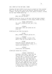 this is an example of a movie script writing was never my strong