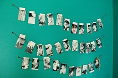 a month of pictures.  one picture with envelope glued on the back and papercliped to the string.  maybe each child gets a day of the week and their choice of dinner, chores etc. are in the envelope