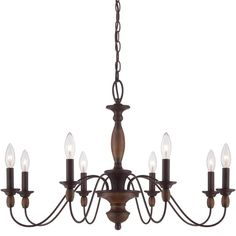 """View the Quoizel HK5008 Holbrook 8 Light 29"""" Wide Candle Style Chandelier at LightingDirect.com."""