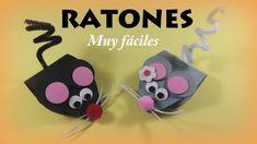 Ratones de cartulina y goma eva muy fáciles - http://www.manualidadeson.com/ratones-cartulina-goma-eva-faciles.html