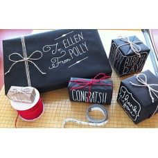 chalkboard style gift wrap All you need is black kraft paper and a chalk marker. ( now where to find black kraft paper. Holiday Fun, Holiday Crafts, Christmas Gifts, Christmas Wrapping, Christmas Countdown, Christmas Decorations, Pretty Packaging, Gift Packaging, Packaging Ideas