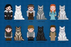 (10) Name: 'Embroidery : Game Of Thrones - Starks - Cross Stitch