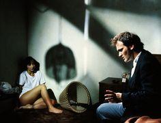 Tarantino and Maria de Medeiros on-set of Pulp Fiction