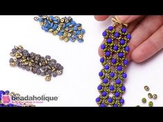 In this video you will see the various colors of Czech Glass Fool's Gold Finish SuperDuo beads.  You can easily incorporate these 2-hole beads in many bead weaving designs as seen here in the Right Angle Weave Greenery Bracelet.