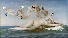 "KIM DONG -KYU, ""hot issue"", 2013, pic original is ""the birth of Venus"" by alexander cabanel, 1863"