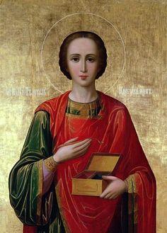 Святой великомученик и целитель Пантелеимон (неизвестный иконописец)