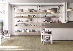 TREVERKWAY OLMO Treverkway - Wood effect stoneware floors | Marazzi Palazzo, White Porcelain, Porcelain Tile, Wood Look Tile, Tile Wood, Natural Wood Flooring, Tile Installation, Wood Planks, Contemporary Design
