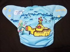Beatles Tribute Yellow Submarine One-Size Cloth Pocket Diaper
