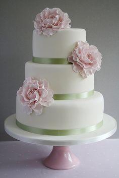 light pink wedding cake - Google Search
