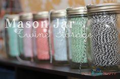 Mason Jar Twine Storage