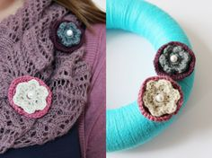Häkelbrosche DIY Anleitung // Crochet Flower DIY tutorial - pretty crochet accessories