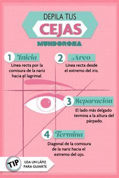 Aprende a tener sus cejas alineadas con tus ojos