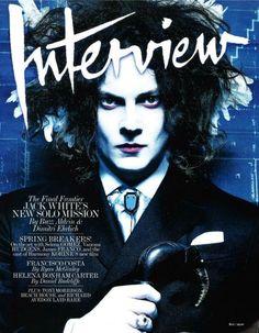 Jack White for Interview Magazine  (O Jack White virou uma mistura do Chapeleiro do Burton com o Robert Smith?!)