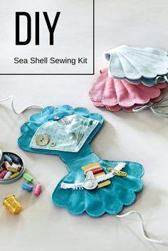 DIY: sea shell sewing kit