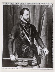 """Retrato de Felipe II, escena de """"El Expolio"""".  http://aleph.csic.es/F?func=find-c&ccl_term=SYS%3D000106851&local_base=ARCHIVOS"""