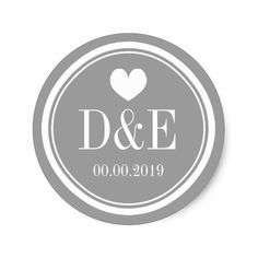 Shop Stylish gray name monogram wedding favor stickers created by logotees. Rustic Wedding Favors, Personalized Wedding Favors, Wedding Favor Tags, Wedding Decorations, Wedding Name, Monogram Wedding, Monogram Initials, Comic Book Wedding, Wedding Stickers