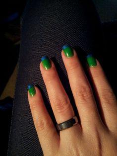 My Seahawks nails