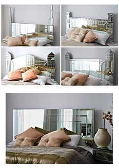 Bedroom Stylish Headboard Designs For Your Bed Large Mirror
