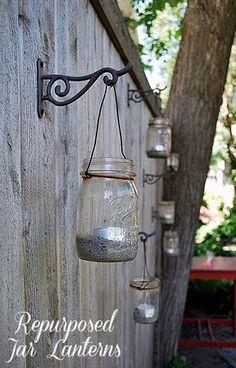 mason jar lanterns. . .