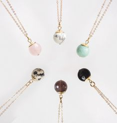 Sphere Necklaces #etsy