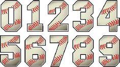 Baseball Numbers Designs