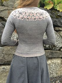 Ravelry: Kirsebærblomstring / Cherry Bloom / Kirschblüte pattern by Lene Tøsti Fair Isle Knitting, Hand Knitting, Knitting Patterns, Crochet Cardigan, Knit Crochet, Hair Yarn, Cherry Blooms, Ravelry, Knit Fashion