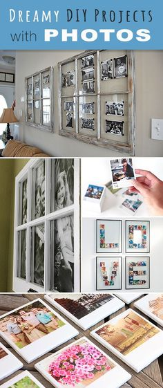 If you don't know what to do with all those smartphone shots, try these DIY photo projects & ideas! Turn simple pictures into cool photo ideas you can make! Diy Craft Projects, Photo Projects, Diy And Crafts, Projects To Try, Diy Photo, Photo Craft, Photo Ideas, Diy Simple, Easy Diy