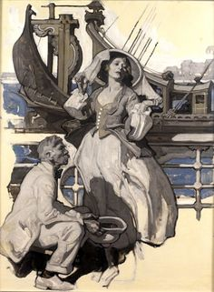 Dean Cornwell (American- 1892-1960): Original Paintings  Art For Sale
