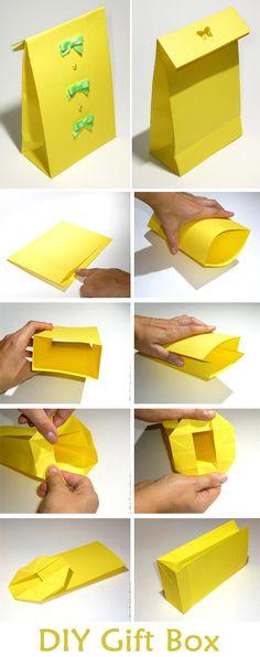Handmade Gift Box Tutorial  http://www.free-tutorial.net/2017/04/handmade-gift-box.html