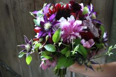 Purple-burgundy jewel tones might be our new favorite color palette