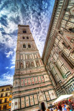 The gorgeous Campanile di Giotto..the bell tower of the duomo in florence.