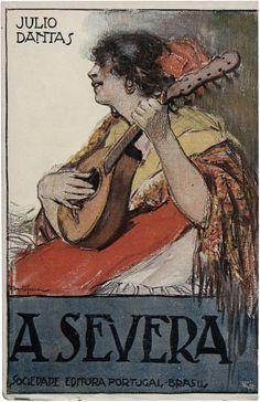 A Severa, Júlio Dantas, Editora Portugal-Brasil, design Alberto Souza, 1921