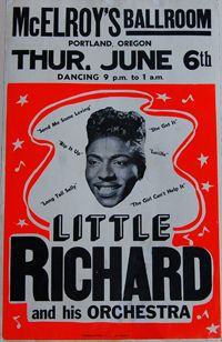Little Richard Mcelroys Ballroom Portland Oregon
