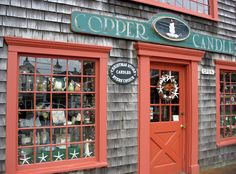 Located in Kennebunkport, Maine... One of the prettiest candle/Christmas shops I have ever been to.
