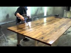 Relaxing video on how to make a table from reclaimed wood. Definitely want to try it some day.