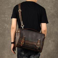 Leather Briefcase Men, Brown Leather Messenger Bag, Men's Briefcase, L – Leajanebag Vintage Leather Messenger Bag, Leather Duffle Bag, Messenger Bag Men, Leather Briefcase, Leather Wallet, Men Wallet, Men's Leather, Laptop Briefcase, Briefcase For Men