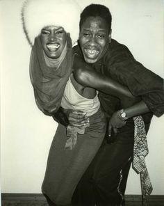 Grace Jones & Andre Leon Talley @ Studio 54