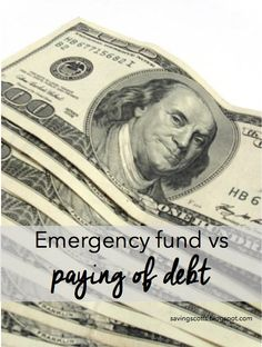 Should you establish an emergency fund or pay off debt? #personalfinance