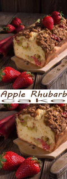 rhubarb cake. This A
