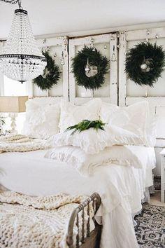wreaths in the bedroom