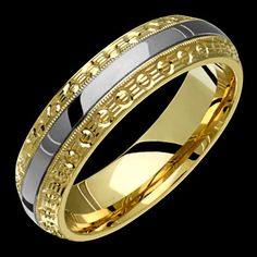 Two-Tone Comfort Fit Solid Gold (not plated) Wedding Band Fashion Ring USD White Gold Wedding Bands, Diamond Wedding Bands, Wedding Rings, Sapphire Eternity Ring, Gold Bangles, Gold Rings, Plaque, Fashion Rings, Custom Jewelry