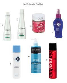 Volumizing hair products for Fine Hair