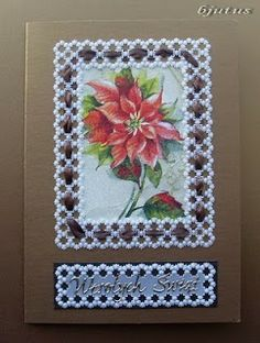 parchment craft - Christmas card