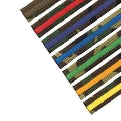 Camo Martial Arts Karate Belt with Colored Stripe