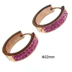 Cheap Stainless Steel Jewelry Earrings Set With Pink Rhinestone For Women ,#JY0001 : OK Charms, China Wholesale Jewelry Accessories Marketplace