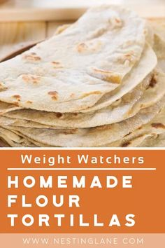 Weight Watchers Homemade Flour Tortillas Recipe. Traditional Mexican tortillas. Only 5 ingredients that you probably already have on hand. You make these in a skillet. You will spend a little time making tortillas, but this recipe makes 24 tortillas so it's worth the time. MyWW Points: 2 Green Plan, 2 Smart Points Recipes With Flour Tortillas, How To Make Tortillas, Homemade Flour Tortillas, Making Tortillas, Weight Watchers Vegetarian, Weight Watchers Meals, New Recipes, Healthy Recipes, Tortilla Recipe