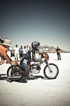 Bonneville Salt Flats motorcycle speed
