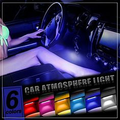 Thunder® 4pcs DC 12V Car Interior LED Light Underdash Lighting Kit - Auto Decorative Atmosphere Neon Lights, With Brightness Regulator Features for All Vehicles - Single Color Blue - http://www.caraccessoriesonlinemarket.com/thunder-4pcs-dc-12v-car-interior-led-light-underdash-lighting-kit-auto-decorative-atmosphere-neon-lights-with-brightness-regulator-features-for-all-vehicles-single-color-blue/ #4Pcs, #Atmosphere, #AUTO, #Blue, #Brightness, #Color, #Decorative, #Featur