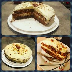Répatorta mascarpones vaníliás krémmel 😊 #carrotcake #mascarpone